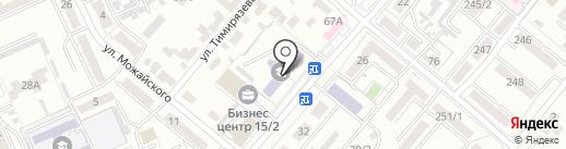 Карагандинский профессионально-технический колледж на карте Караганды