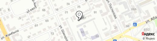 Торгово-сервисная компания на карте Караганды
