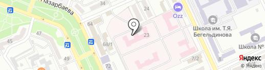 Отдел медико-социальной экспертизы на карте Караганды