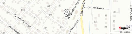 Баракят на карте Караганды
