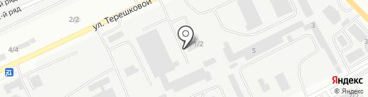 Глотур на карте Караганды