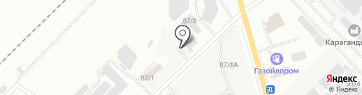 METALCOM, ТОО на карте Караганды