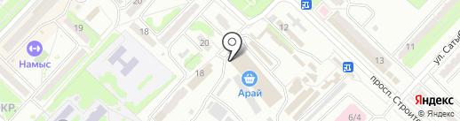 Магазин одежды на карте Караганды