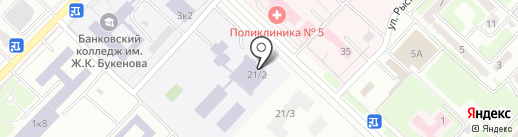 Карагандинский транспортно-технологический колледж на карте Караганды
