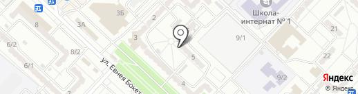 Жума на карте Караганды