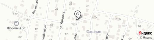 Сахалинец на карте Караганды