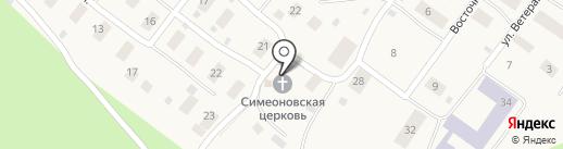 Храм во имя святого праведного Симеона Верхотурского на карте Барсово