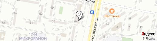 Магазин свежей рыбы на карте Караганды