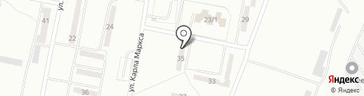 Заря на карте Караганды