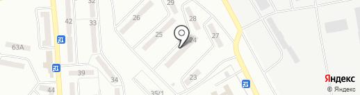 Айя на карте Караганды