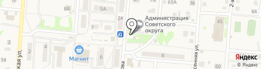 Магазин молочной продукции на карте Омска