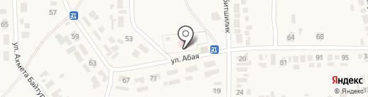 Уштобе на карте Уштобе