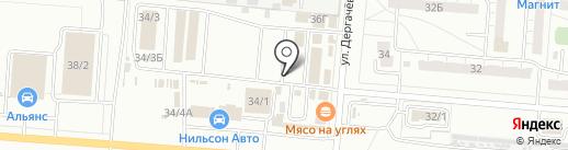 Скат на карте Омска