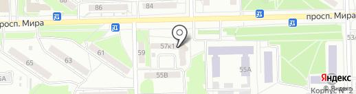 Валентинка на карте Омска