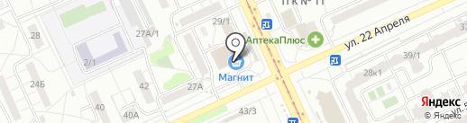 Магазин игрушек на карте Омска