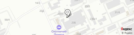 Автоателье на карте Омска