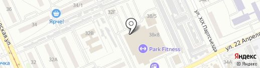 Гепард на карте Омска