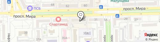 Стройградпроект на карте Омска