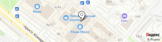 Звезда Стелла на карте Омска