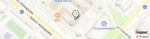 Лапушки на карте Омска