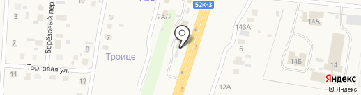 Сеть автомагазинов на карте Троицкого