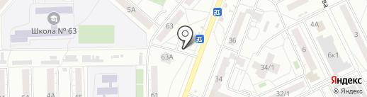 Магазин нижнего белья и чулочно-носочных изделий на карте Омска
