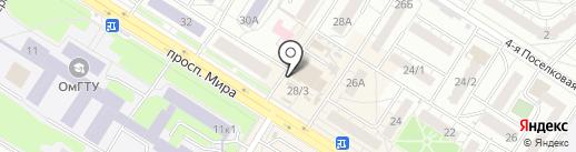 Магазин трикотажа и нижнего белья на карте Омска