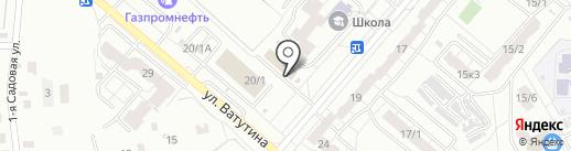 Магазин автозапчастей для ВАЗ, ГАЗ на карте Омска