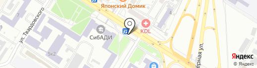 Симпатия на карте Омска