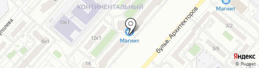 Магазин канцелярских товаров и игрушек на карте Омска