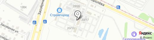 Магазин строительных материалов на карте Омска