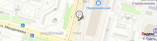 Кафе горячего питания на карте Омска