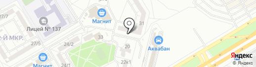 Магазин мясной продукции на карте Омска