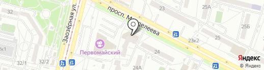 ГлавСтрой на карте Омска