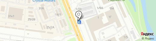 Цветоптторг на карте Омска