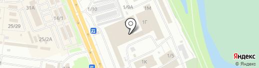 Эвомотус на карте Омска