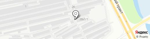 Пиратская станция на карте Сургута