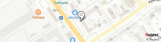 Масссажный кабинет на карте Омска
