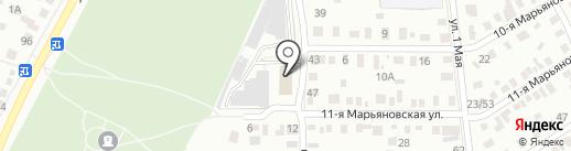 Банное хозяйство, МУП на карте Омска