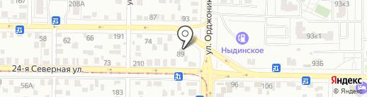 Автобаланс на карте Омска