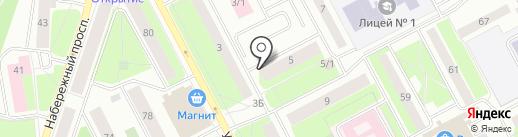 Продовольственный магазин на карте Сургута