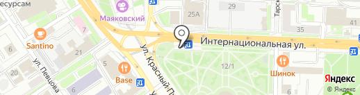 Итака на карте Омска