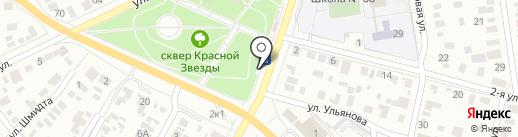 Рахат на карте Омска