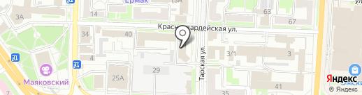 Справочная службы занятости населения на карте Омска