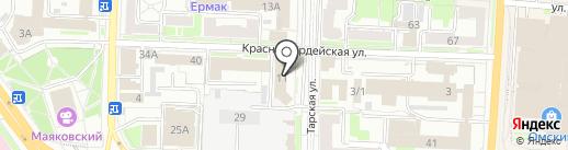 Справочная служба занятости населения на карте Омска