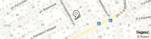 Авангард на карте Омска