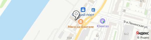 Мебельный салон на карте Омска