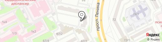 Кружка на карте Сургута