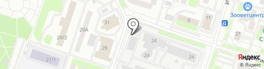 Городские тепловые сети на карте Сургута