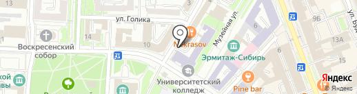 Сбербанк Первый на карте Омска